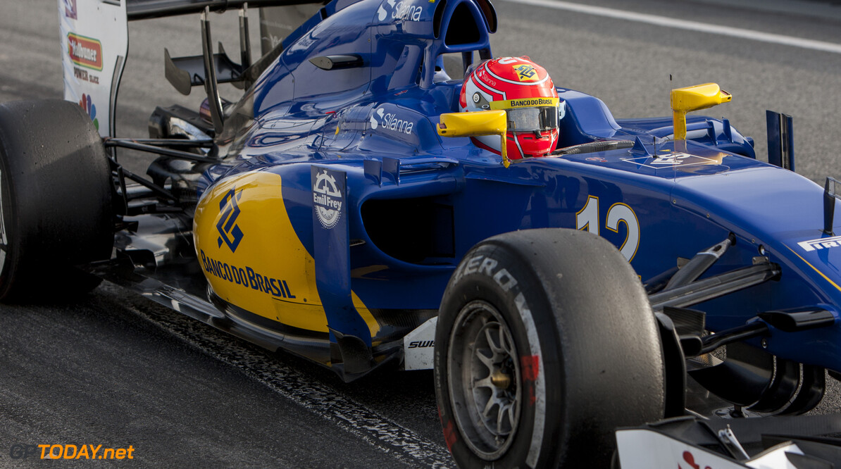 160224RF12674 BARCELONA, SPAIN - 24 FEBRUARY 2016: #12 Felipe Nasr (BRA), Sauber F1 Team, during day 1 of Formula 1's Pre-Season Test at Circuit de Barcelona-Catalunya. Formula 1's Pre-Season Test Ronald Fleurbaaij Barcelona Spain  Sport Sports Autosport Motorsports Auto Car Racewagen Race Car Formule 1 Formula 1 F1 FIA Formula One World Championship Spain Spanje Circuit de Barcelona-Catalunya Pre-Season Test