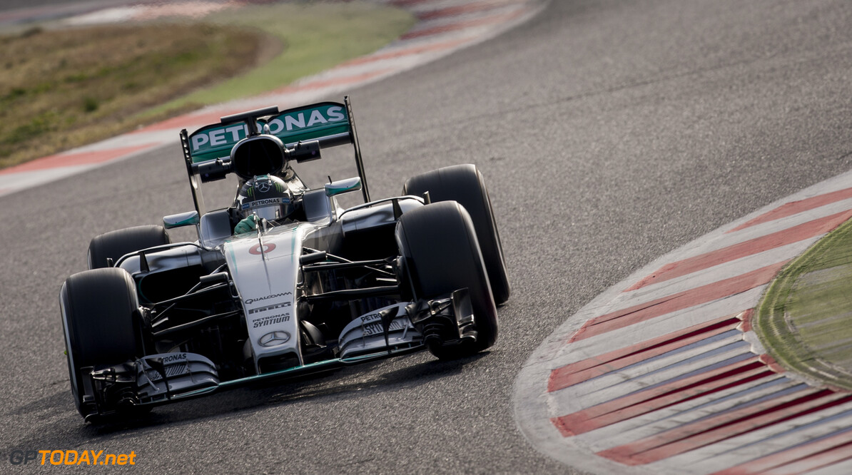 160224RF22753 BARCELONA, SPAIN - 24 FEBRUARY 2016: #6 Nico Rosberg (DEU), Mercedes AMG Petronas F1 Team, during day 1 of Formula 1's Pre-Season Test at Circuit de Barcelona-Catalunya. Formula 1's Pre-Season Test Ronald Fleurbaaij Barcelona Spain  Sport Sports Autosport Motorsports Auto Car Racewagen Race Car Formule 1 Formula 1 F1 FIA Formula One World Championship Spain Spanje Circuit de Barcelona-Catalunya Pre-Season Test
