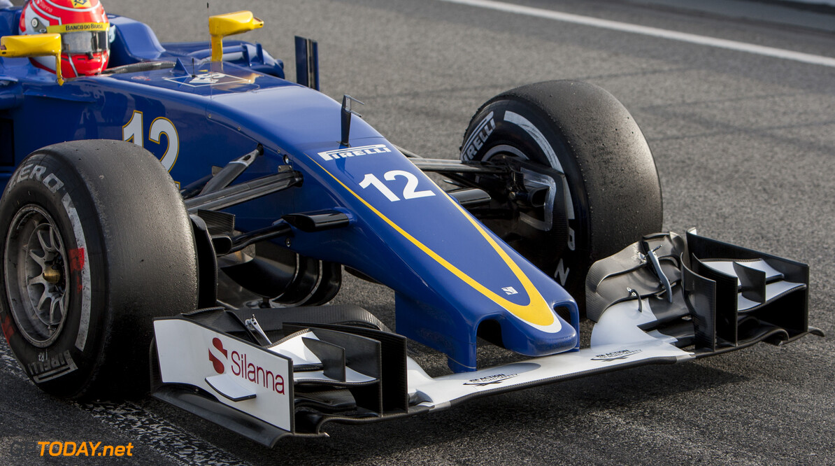 160224RF12669 BARCELONA, SPAIN - 24 FEBRUARY 2016: #12 Felipe Nasr (BRA), Sauber F1 Team, during day 1 of Formula 1's Pre-Season Test at Circuit de Barcelona-Catalunya. Formula 1's Pre-Season Test Ronald Fleurbaaij Barcelona Spain  Sport Sports Autosport Motorsports Auto Car Racewagen Race Car Formule 1 Formula 1 F1 FIA Formula One World Championship Spain Spanje Circuit de Barcelona-Catalunya Pre-Season Test