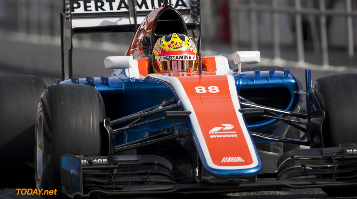 160224RF22943 BARCELONA, SPAIN - 24 FEBRUARY 2016: #88 Rio Haryanto (IDN), Manor Racing, during day 1 of Formula 1's Pre-Season Test at Circuit de Barcelona-Catalunya. Formula 1's Pre-Season Test Ronald Fleurbaaij Barcelona Spain  Sport Sports Autosport Motorsports Auto Car Racewagen Race Car Formule 1 Formula 1 F1 FIA Formula One World Championship Spain Spanje Circuit de Barcelona-Catalunya Pre-Season Test