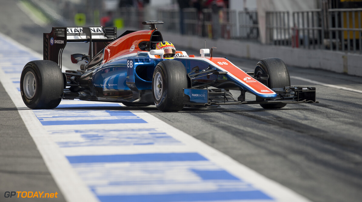 160224RF22939 BARCELONA, SPAIN - 24 FEBRUARY 2016: #88 Rio Haryanto (IDN), Manor Racing, during day 1 of Formula 1's Pre-Season Test at Circuit de Barcelona-Catalunya. Formula 1's Pre-Season Test Ronald Fleurbaaij Barcelona Spain  Sport Sports Autosport Motorsports Auto Car Racewagen Race Car Formule 1 Formula 1 F1 FIA Formula One World Championship Spain Spanje Circuit de Barcelona-Catalunya Pre-Season Test