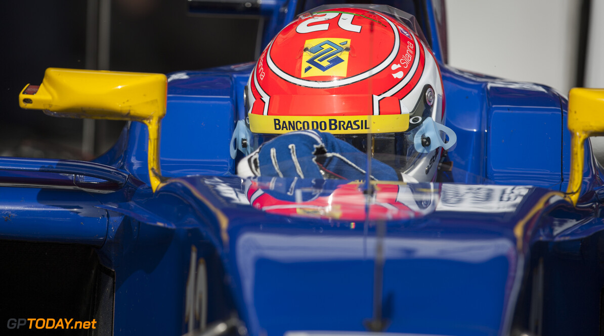 160224RF23171 BARCELONA, SPAIN - 24 FEBRUARY 2016: #12 Felipe Nasr (BRA), Sauber F1 Team, during day 1 of Formula 1's Pre-Season Test at Circuit de Barcelona-Catalunya. Formula 1's Pre-Season Test Ronald Fleurbaaij Barcelona Spain  Sport Sports Autosport Motorsports Auto Car Racewagen Race Car Formule 1 Formula 1 F1 FIA Formula One World Championship Spain Spanje Circuit de Barcelona-Catalunya Pre-Season Test