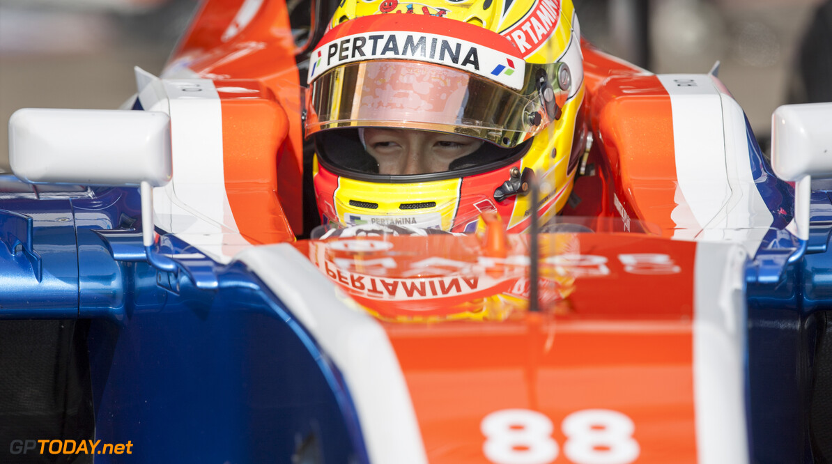160224RF23129 BARCELONA, SPAIN - 24 FEBRUARY 2016: #88 Rio Haryanto (IDN), Manor Racing, during day 1 of Formula 1's Pre-Season Test at Circuit de Barcelona-Catalunya. Formula 1's Pre-Season Test Ronald Fleurbaaij Barcelona Spain  Sport Sports Autosport Motorsports Auto Car Racewagen Race Car Formule 1 Formula 1 F1 FIA Formula One World Championship Spain Spanje Circuit de Barcelona-Catalunya Pre-Season Test