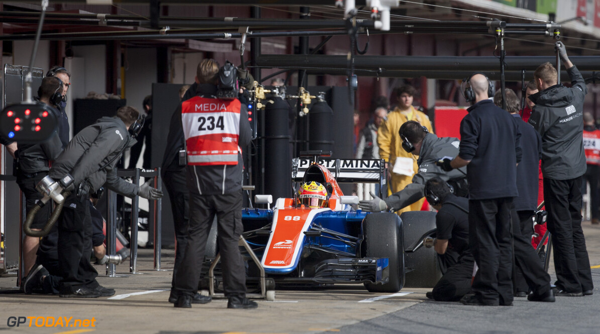 160224RF22972 BARCELONA, SPAIN - 24 FEBRUARY 2016: #88 Rio Haryanto (IDN), Manor Racing, during day 1 of Formula 1's Pre-Season Test at Circuit de Barcelona-Catalunya. Formula 1's Pre-Season Test Ronald Fleurbaaij Barcelona Spain  Sport Sports Autosport Motorsports Auto Car Racewagen Race Car Formule 1 Formula 1 F1 FIA Formula One World Championship Spain Spanje Circuit de Barcelona-Catalunya Pre-Season Test
