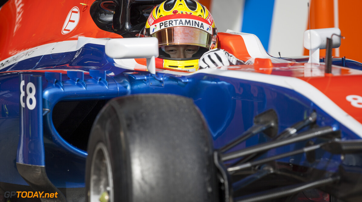 160224RF23123 BARCELONA, SPAIN - 24 FEBRUARY 2016: #88 Rio Haryanto (IDN), Manor Racing, during day 1 of Formula 1's Pre-Season Test at Circuit de Barcelona-Catalunya. Formula 1's Pre-Season Test Ronald Fleurbaaij Barcelona Spain  Sport Sports Autosport Motorsports Auto Car Racewagen Race Car Formule 1 Formula 1 F1 FIA Formula One World Championship Spain Spanje Circuit de Barcelona-Catalunya Pre-Season Test