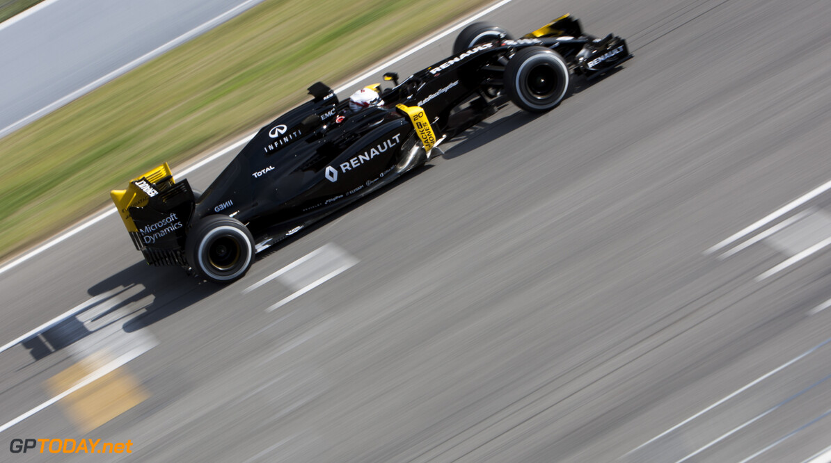 160224RF12877 BARCELONA, SPAIN - 24 FEBRUARY 2016: #20 Kevin Magnussen (DNK), Renault Sport Formula One Team, during day 1 of Formula 1's Pre-Season Test at Circuit de Barcelona-Catalunya. Formula 1's Pre-Season Test Ronald Fleurbaaij Barcelona Spain  Sport Sports Autosport Motorsports Auto Car Racewagen Race Car Formule 1 Formula 1 F1 FIA Formula One World Championship Spain Spanje Circuit de Barcelona-Catalunya Pre-Season Test