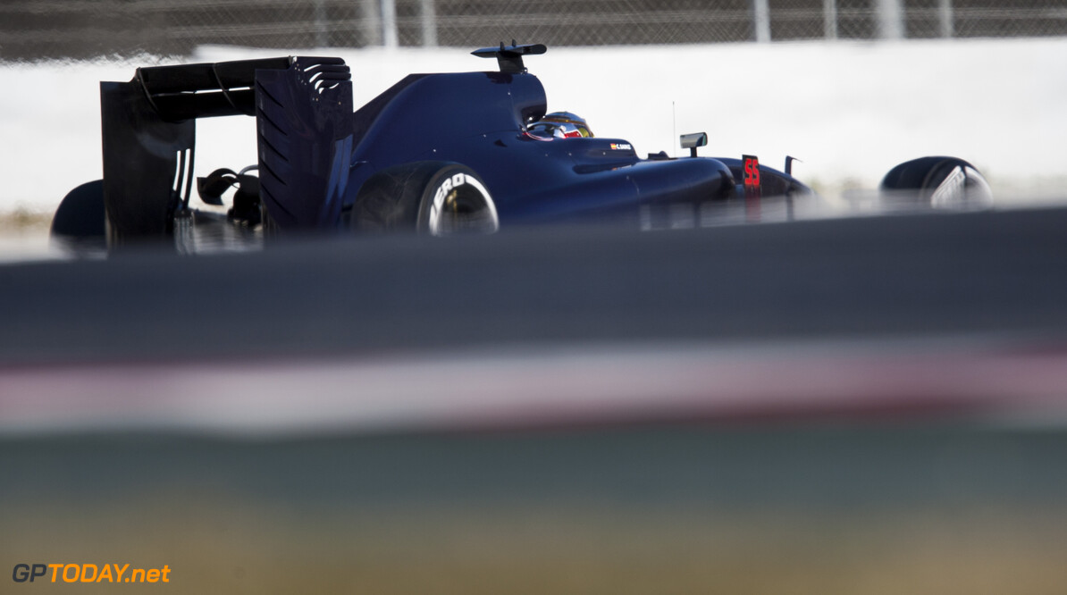 160224RF23401 BARCELONA, SPAIN - 24 FEBRUARY 2016: #55 Carlos Sainz Jr (ESP), Scuderia Toro Rosso, during day 1 of Formula 1's Pre-Season Test at Circuit de Barcelona-Catalunya. Formula 1's Pre-Season Test Ronald Fleurbaaij Barcelona Spain  Sport Sports Autosport Motorsports Auto Car Racewagen Race Car Formule 1 Formula 1 F1 FIA Formula One World Championship Spain Spanje Circuit de Barcelona-Catalunya Pre-Season Test