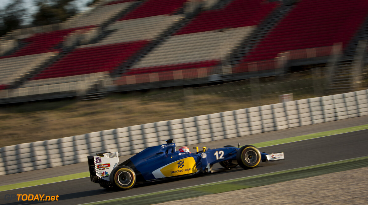 160224RF13085 BARCELONA, SPAIN - 24 FEBRUARY 2016: #12 Felipe Nasr (BRA), Sauber F1 Team, during day 1 of Formula 1's Pre-Season Test at Circuit de Barcelona-Catalunya. Formula 1's Pre-Season Test Ronald Fleurbaaij Barcelona Spain  Sport Sports Autosport Motorsports Auto Car Racewagen Race Car Formule 1 Formula 1 F1 FIA Formula One World Championship Spain Spanje Circuit de Barcelona-Catalunya Pre-Season Test