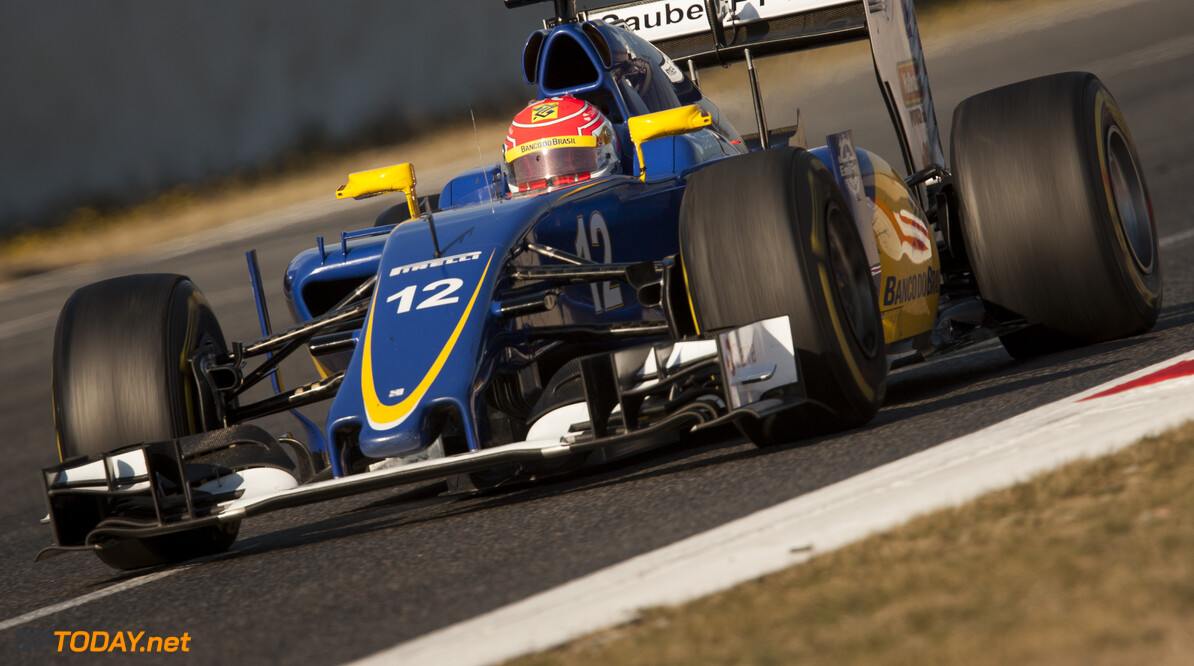 160224RF23509 BARCELONA, SPAIN - 24 FEBRUARY 2016: #12 Felipe Nasr (BRA), Sauber F1 Team, during day 1 of Formula 1's Pre-Season Test at Circuit de Barcelona-Catalunya. Formula 1's Pre-Season Test Ronald Fleurbaaij Barcelona Spain  Sport Sports Autosport Motorsports Auto Car Racewagen Race Car Formule 1 Formula 1 F1 FIA Formula One World Championship Spain Spanje Circuit de Barcelona-Catalunya Pre-Season Test
