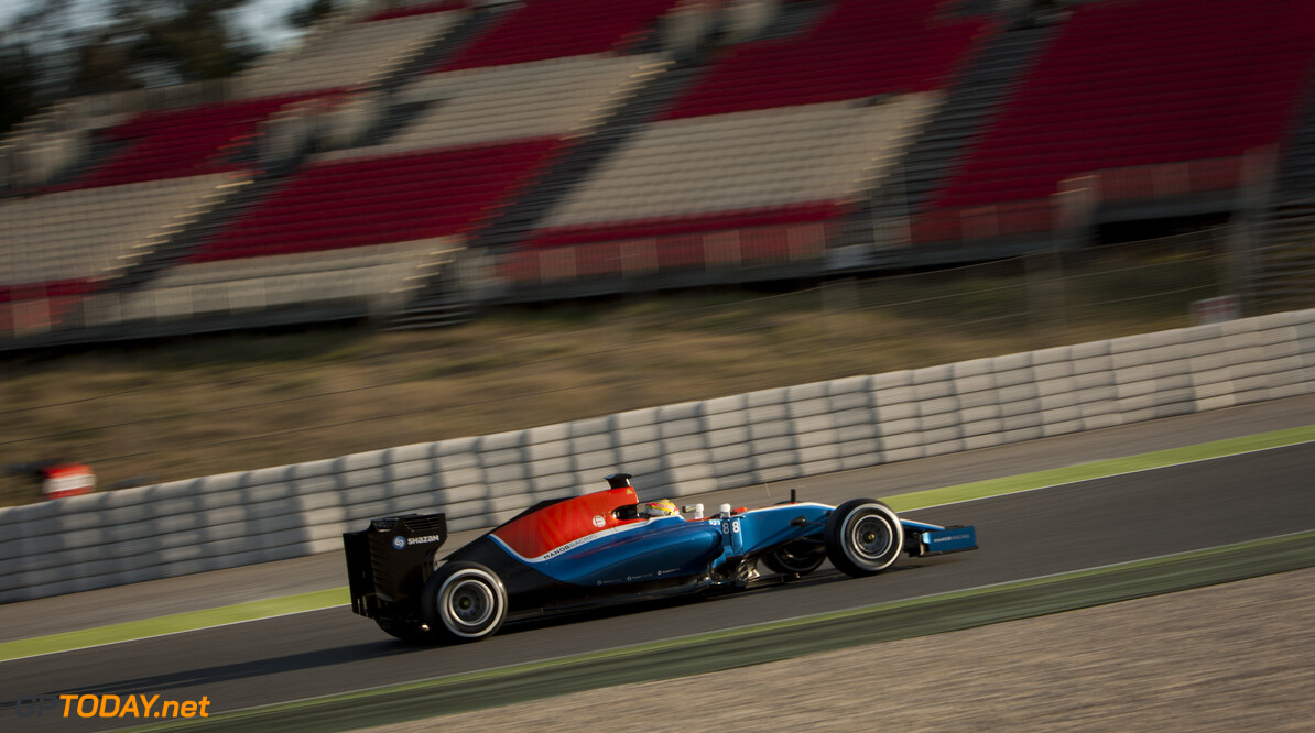 160224RF13039 BARCELONA, SPAIN - 24 FEBRUARY 2016: #88 Rio Haryanto (IDN), Manor Racing, during day 1 of Formula 1's Pre-Season Test at Circuit de Barcelona-Catalunya. Formula 1's Pre-Season Test Ronald Fleurbaaij Barcelona Spain  Sport Sports Autosport Motorsports Auto Car Racewagen Race Car Formule 1 Formula 1 F1 FIA Formula One World Championship Spain Spanje Circuit de Barcelona-Catalunya Pre-Season Test