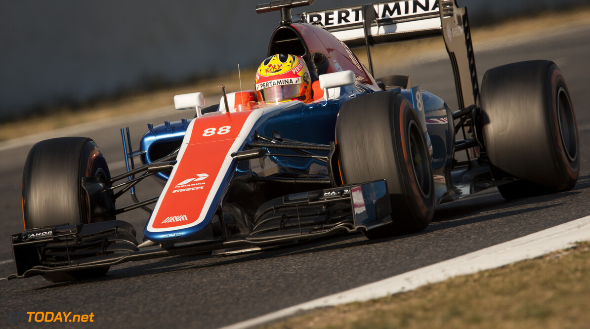 160224RF23531 BARCELONA, SPAIN - 24 FEBRUARY 2016: #88 Rio Haryanto (IDN), Manor Racing, during day 1 of Formula 1's Pre-Season Test at Circuit de Barcelona-Catalunya. Formula 1's Pre-Season Test Ronald Fleurbaaij Barcelona Spain  Sport Sports Autosport Motorsports Auto Car Racewagen Race Car Formule 1 Formula 1 F1 FIA Formula One World Championship Spain Spanje Circuit de Barcelona-Catalunya Pre-Season Test