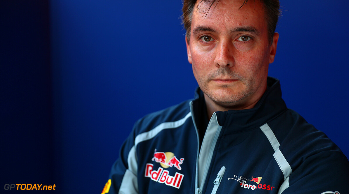 MONTMELO, SPAIN - FEBRUARY 29:  James Key, Technical Director of Scuderia Toro Rosso poses in the garage ahead of the unveiling of the new STR11 at the Scuderia Toro Rosso STR11 Launch at Circuit de Catalunya on February 29, 2016 in Montmelo, Spain.  (Photo by Dan Istitene/Getty Images) // P-20160229-00547 // Usage for editorial use only // Please go to www.redbullcontentpool.com for further information. //  Scuderia Toro Rosso STR11 Launch Dan Istitene  Spain  P-20160229-00547