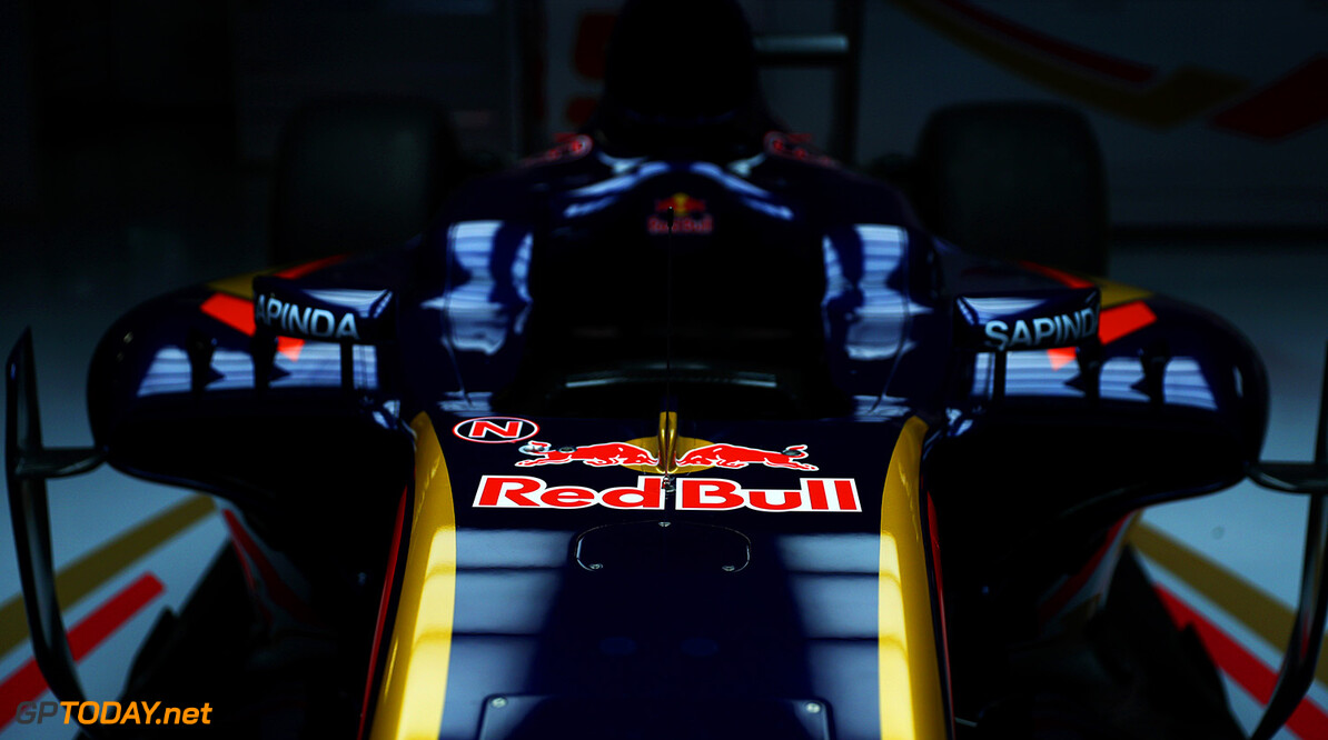 MONTMELO, SPAIN - FEBRUARY 29:  The new Scuderia Toro Rosso STR11 in the team garage ahead of the launch at Circuit de Catalunya on February 29, 2016 in Montmelo, Spain.  (Photo by Dan Istitene/Getty Images) // P-20160229-00567 // Usage for editorial use only // Please go to www.redbullcontentpool.com for further information. //  Scuderia Toro Rosso STR11 Launch Dan Istitene  Spain  P-20160229-00567