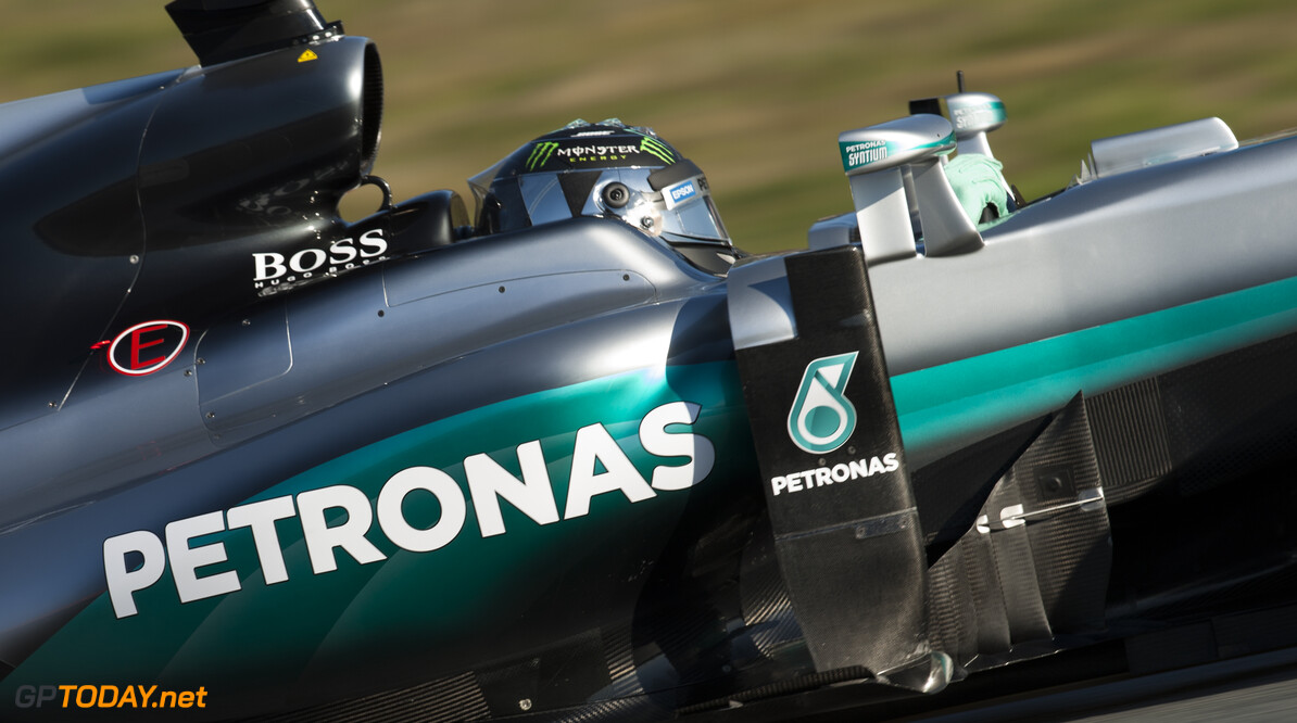 160301RF24972 BARCELONA, SPAIN - 1 MARCH 2016: #6 Nico Rosberg (DEU), Mercedes AMG Petronas F1 Team, during day 5 of Formula 1's Pre-Season Test at Circuit de Barcelona-Catalunya. Formula 1's Pre-Season Test Ronald Fleurbaaij Barcelona Spain  Sport Sports Autosport Motorsports Auto Car Racewagen Race Car Formule 1 Formula 1 F1 FIA Formula One World Championship Spain Spanje Circuit de Barcelona-Catalunya Pre-Season Test