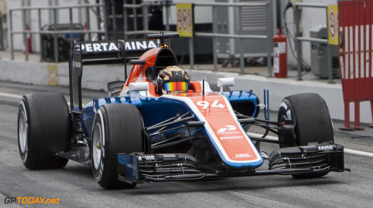 160302RF15094 BARCELONA, SPAIN - 2 MARCH 2016: #94 Pascal Wehrlein (DEU), Manor Racing, during day 6 of Formula 1's Pre-Season Test at Circuit de Barcelona-Catalunya. Formula 1's Pre-Season Test Ronald Fleurbaaij Barcelona Spain  Sport Sports Autosport Motorsports Auto Car Racewagen Race Car Formule 1 Formula 1 F1 FIA Formula One World Championship Spain Spanje Circuit de Barcelona-Catalunya Pre-Season Test