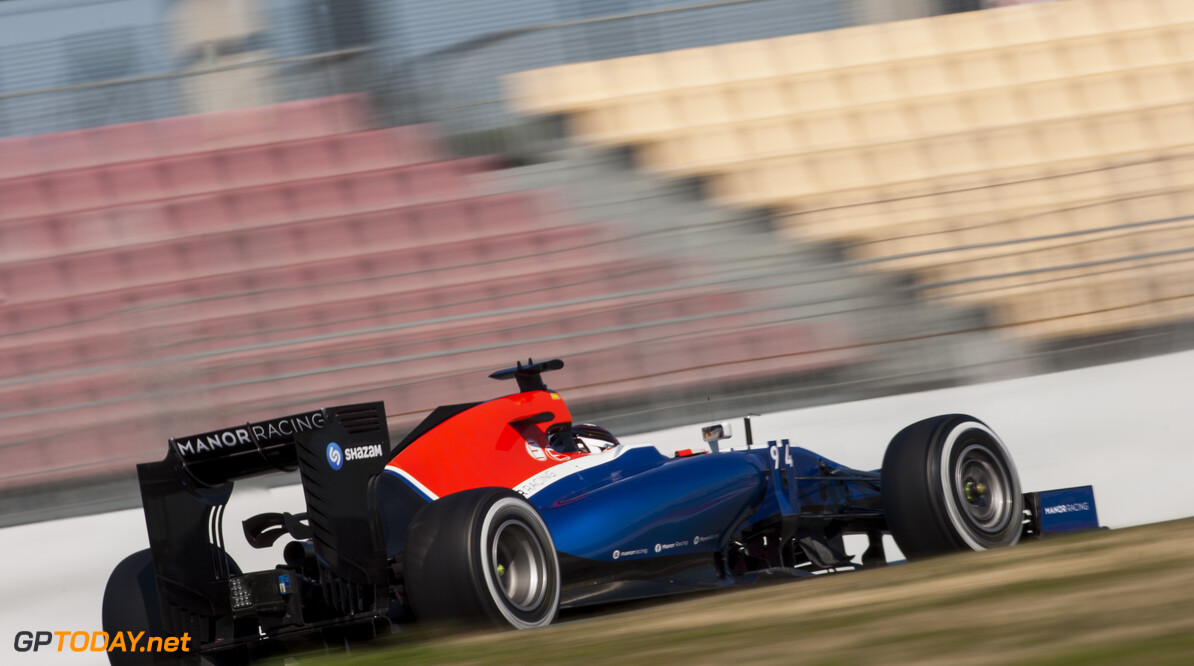 160302RF25708 BARCELONA, SPAIN - 2 MARCH 2016: #94 Pascal Wehrlein (DEU), Manor Racing, during day 6 of Formula 1's Pre-Season Test at Circuit de Barcelona-Catalunya. Formula 1's Pre-Season Test Ronald Fleurbaaij Barcelona Spain  Sport Sports Autosport Motorsports Auto Car Racewagen Race Car Formule 1 Formula 1 F1 FIA Formula One World Championship Spain Spanje Circuit de Barcelona-Catalunya Pre-Season Test