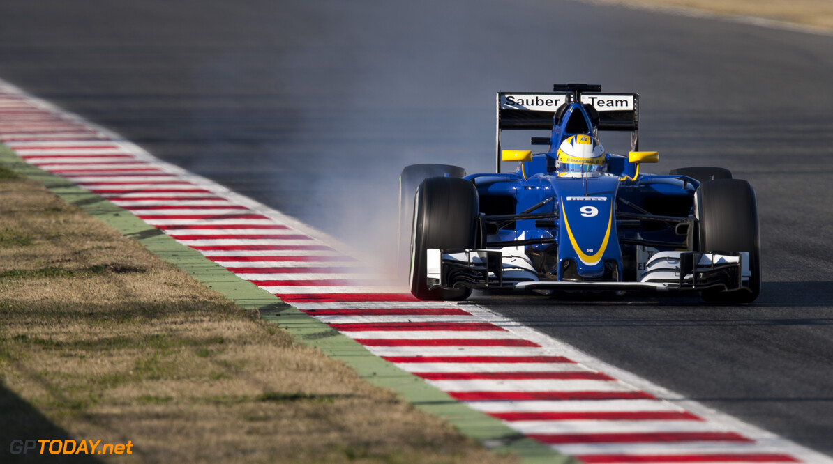 160304RF28043 BARCELONA, SPAIN - 4 MARCH 2016: #9 Marcus Ericsson (SWE), Sauber F1 Team, during day 8 of Formula 1's Pre-Season Test at Circuit de Barcelona-Catalunya. Formula 1's Pre-Season Test Ronald Fleurbaaij Barcelona Spain  Sport Sports Autosport Motorsports Auto Car Racewagen Race Car Formule 1 Formula 1 F1 FIA Formula One World Championship Spain Spanje Circuit de Barcelona-Catalunya Pre-Season Test