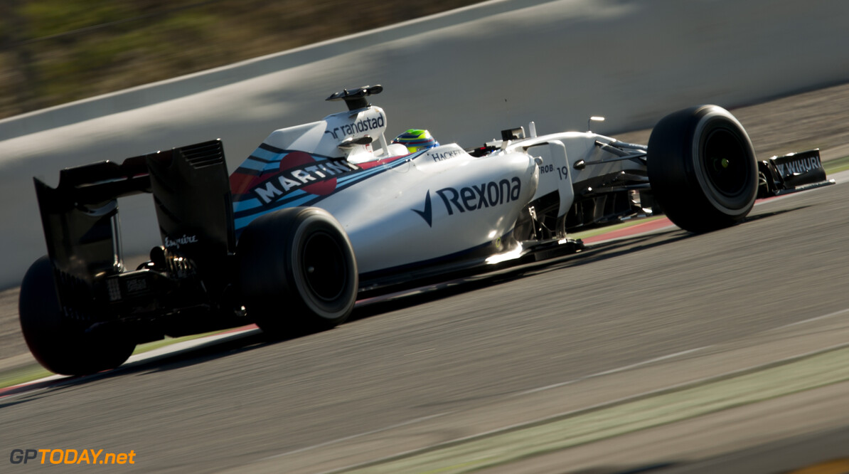 160304RF27985 BARCELONA, SPAIN - 4 MARCH 2016: #19 Felipe Massa (BRA), Williams Martini Racing, during day 8 of Formula 1's Pre-Season Test at Circuit de Barcelona-Catalunya. Formula 1's Pre-Season Test Ronald Fleurbaaij Barcelona Spain  Sport Sports Autosport Motorsports Auto Car Racewagen Race Car Formule 1 Formula 1 F1 FIA Formula One World Championship Spain Spanje Circuit de Barcelona-Catalunya Pre-Season Test