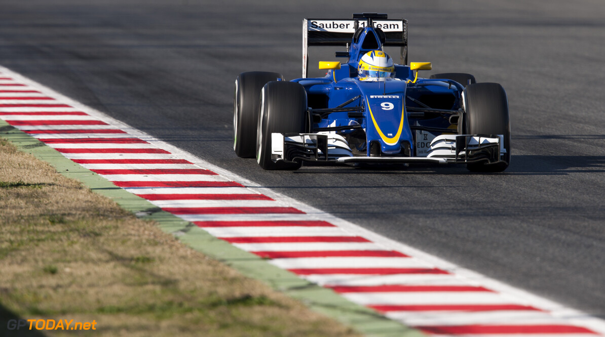 160304RF28104 BARCELONA, SPAIN - 4 MARCH 2016: #9 Marcus Ericsson (SWE), Sauber F1 Team, during day 8 of Formula 1's Pre-Season Test at Circuit de Barcelona-Catalunya. Formula 1's Pre-Season Test Ronald Fleurbaaij Barcelona Spain  Sport Sports Autosport Motorsports Auto Car Racewagen Race Car Formule 1 Formula 1 F1 FIA Formula One World Championship Spain Spanje Circuit de Barcelona-Catalunya Pre-Season Test