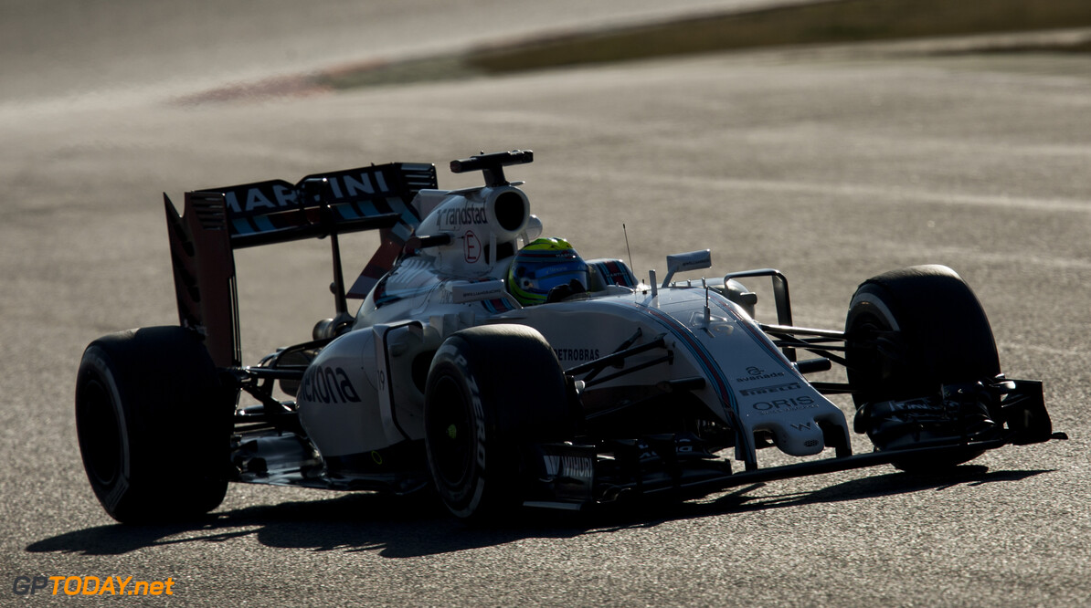 160304RF27851 BARCELONA, SPAIN - 4 MARCH 2016: #19 Felipe Massa (BRA), Williams Martini Racing, during day 8 of Formula 1's Pre-Season Test at Circuit de Barcelona-Catalunya. Formula 1's Pre-Season Test Ronald Fleurbaaij Barcelona Spain  Sport Sports Autosport Motorsports Auto Car Racewagen Race Car Formule 1 Formula 1 F1 FIA Formula One World Championship Spain Spanje Circuit de Barcelona-Catalunya Pre-Season Test