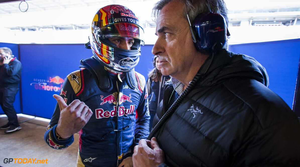 160304RF28607 BARCELONA, SPAIN - 4 MARCH 2016: #55 Carlos Sainz Jr (ESP), Scuderia Toro Rosso, during day 8 of Formula 1's Pre-Season Test at Circuit de Barcelona-Catalunya. Formula 1's Pre-Season Test Ronald Fleurbaaij Barcelona Spain  Sport Sports Autosport Motorsports Auto Car Racewagen Race Car Formule 1 Formula 1 F1 FIA Formula One World Championship Spain Spanje Circuit de Barcelona-Catalunya Pre-Season Test