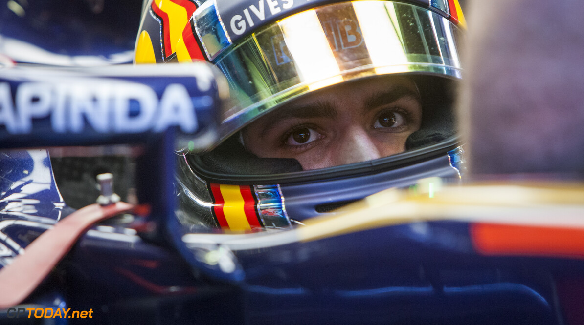 160304RF15730 BARCELONA, SPAIN - 4 MARCH 2016: #55 Carlos Sainz Jr (ESP), Scuderia Toro Rosso, during day 8 of Formula 1's Pre-Season Test at Circuit de Barcelona-Catalunya. Formula 1's Pre-Season Test Ronald Fleurbaaij Barcelona Spain  Sport Sports Autosport Motorsports Auto Car Racewagen Race Car Formule 1 Formula 1 F1 FIA Formula One World Championship Spain Spanje Circuit de Barcelona-Catalunya Pre-Season Test