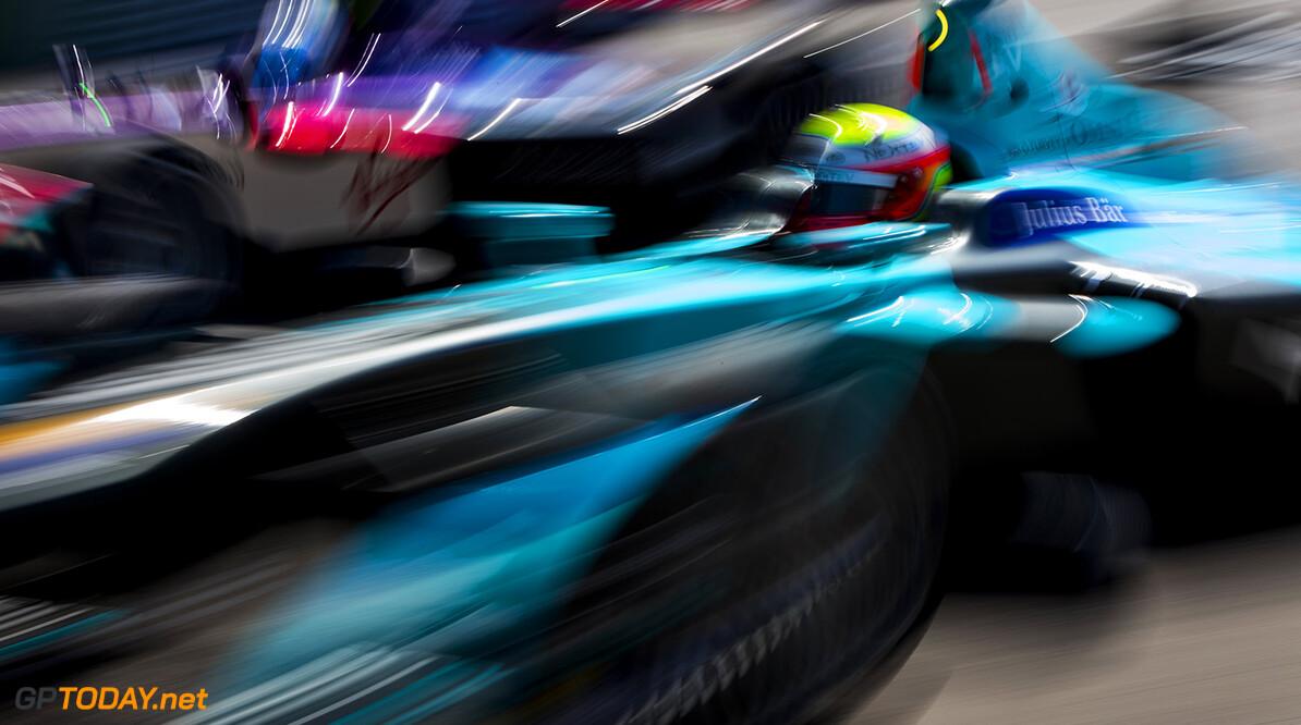 2015/2016 FIA Formula E Championship. Mexico City ePrix, Autodromo Hermanos Rodriguez, Mexico City, Mexico. Saturday 12 March 2016. Sam Bird (GBR), DS Virgin Racing DSV-01 overtakes Oliver Turvey (GBR) NEXTEV TCR FormulaE 001. Photo: Zak Mauger/LAT/Formula E ref: Digital Image _79P3089   Zak Mauger    fe formula e