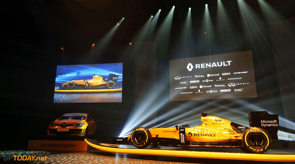 Formula One World Championship The Renault Sport F1 Team RS16 livery reveal.