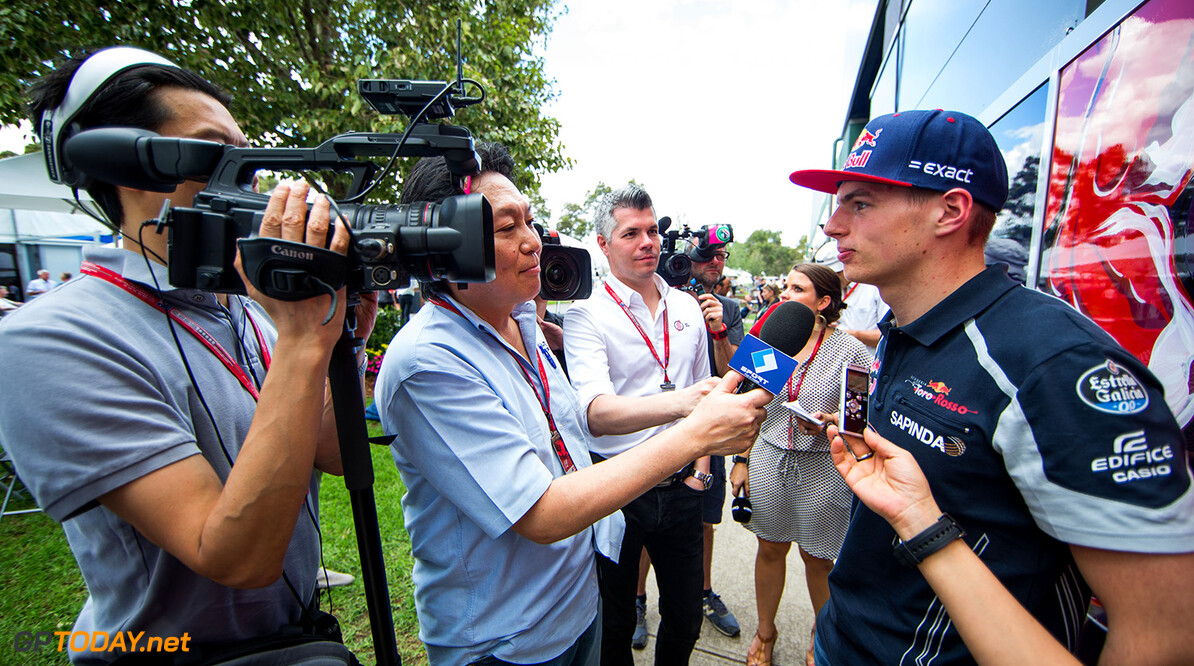 MELBOURNE, AUSTRALIA - MARCH 17:  Max Verstappen of Scuderia Toro Rosso and The Netherlands during previews to the Australian Formula One Grand Prix at Albert Park on March 17, 2016 in Melbourne, Australia.  (Photo by Peter Fox/Getty Images) // Getty Images / Red Bull Content Pool  // P-20160317-00133 // Usage for editorial use only // Please go to www.redbullcontentpool.com for further information. //  Australian F1 Grand Prix - Previews Peter Fox Melbourne Australia  P-20160317-00133