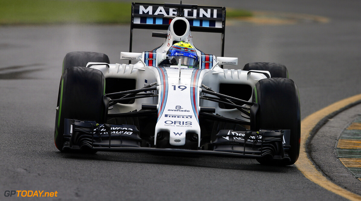 Albert Park, Melbourne, Australia. Friday 18 March 2016. Felipe Massa, Williams FW38 Mercedes. Photo: Charles Coates/Williams F1 ref: Digital Image _J5R8028      Action