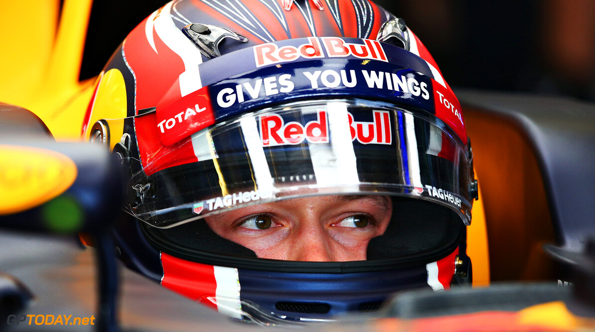 MELBOURNE, AUSTRALIA - MARCH 18: Daniil Kvyat of Russia and Red Bull Racing in the garage during practice ahead of the Australian Formula One Grand Prix at Albert Park on March 18, 2016 in Melbourne, Australia.  (Photo by Robert Cianflone/Getty Images) // Getty Images / Red Bull Content Pool  // P-20160318-00167 // Usage for editorial use only // Please go to www.redbullcontentpool.com for further information. //  Australian F1 Grand Prix - Practice Robert Cianflone Melbourne Australia  P-20160318-00167