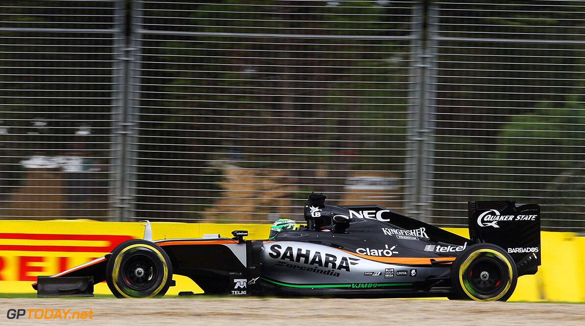 Formula One World Championship Nico Hulkenberg (GER) Sahara Force India F1 VJM09. Australian Grand Prix, Friday 18th March 2016. Albert Park, Melbourne, Australia. Motor Racing - Formula One World Championship - Australian Grand Prix - Practice Day - Melbourne, Australia James Moy Photography Melbourne Australia  Formula One Formula 1 F1 GP Grand Prix Circuit Australia Australian Oz Albert Park Melbourne JM539 Hulkenberg H?lkenberg Huelkenberg Action Track GP1601b