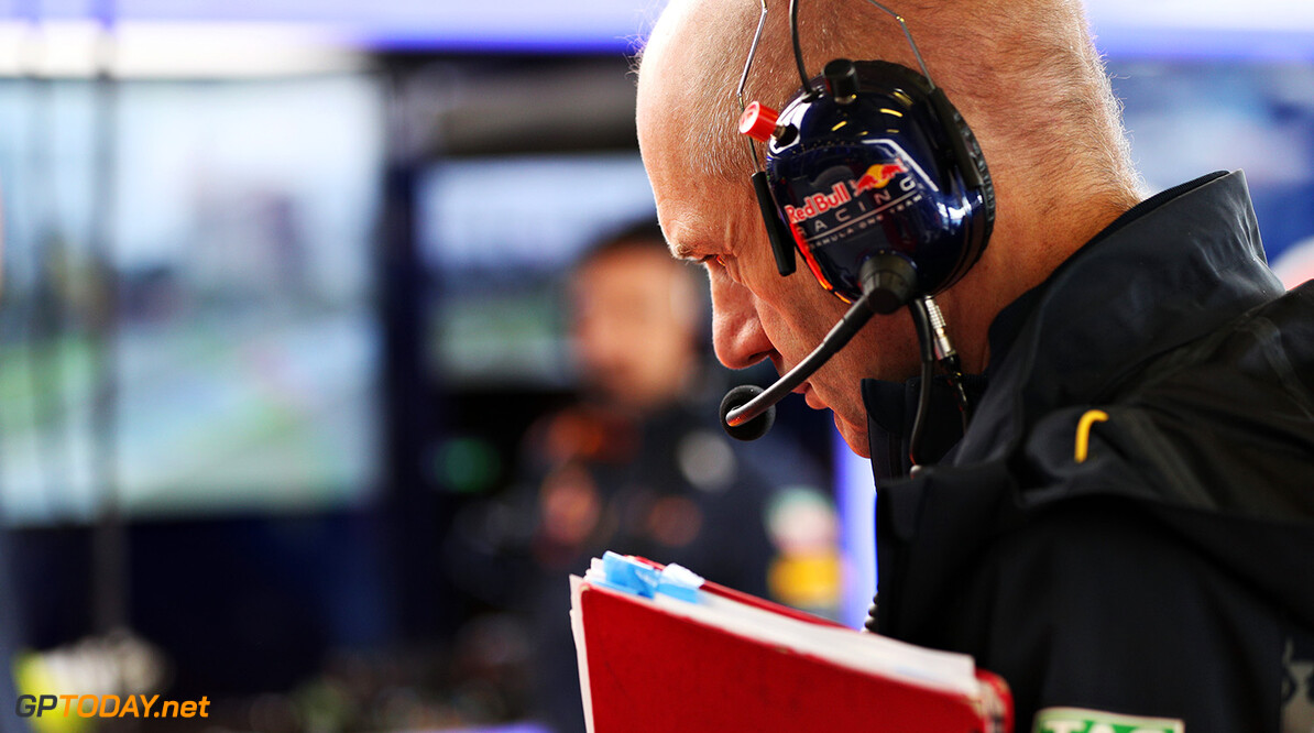 MELBOURNE, AUSTRALIA - MARCH 18: Adrian Newey, the Chief Technical Officer of Red Bull Racing in the garage during practice ahead of the Australian Formula One Grand Prix at Albert Park on March 18, 2016 in Melbourne, Australia.  (Photo by Mark Thompson/Getty Images) // Getty Images / Red Bull Content Pool  // P-20160318-00115 // Usage for editorial use only // Please go to www.redbullcontentpool.com for further information. //  Australian F1 Grand Prix - Practice Mark Thompson Melbourne Australia  P-20160318-00115