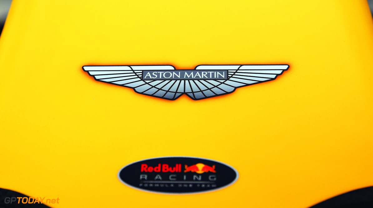 MELBOURNE, AUSTRALIA - MARCH 18: Aston Martin branding on the Red Bull Racing RB12 during practice ahead of the Australian Formula One Grand Prix at Albert Park on March 18, 2016 in Melbourne, Australia.  (Photo by Mark Thompson/Getty Images) // Getty Images / Red Bull Content Pool  // P-20160318-00015 // Usage for editorial use only // Please go to www.redbullcontentpool.com for further information. //  Australian F1 Grand Prix - Practice Mark Thompson Melbourne Australia  P-20160318-00015