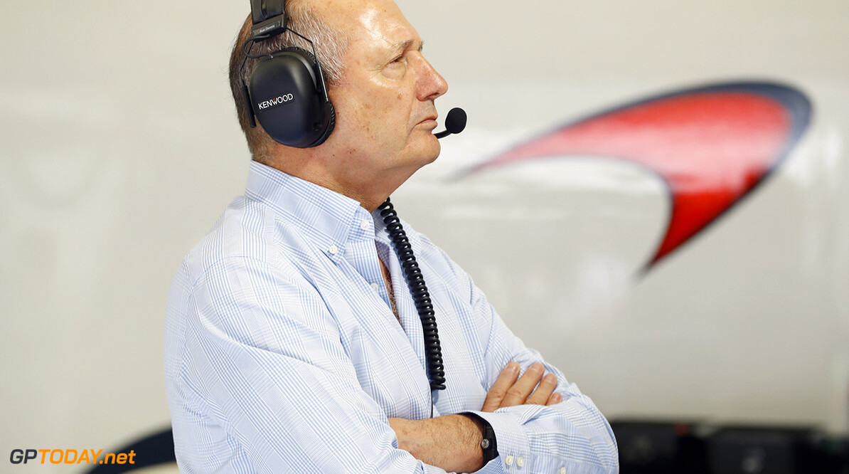 Ron Dennis in the garage.