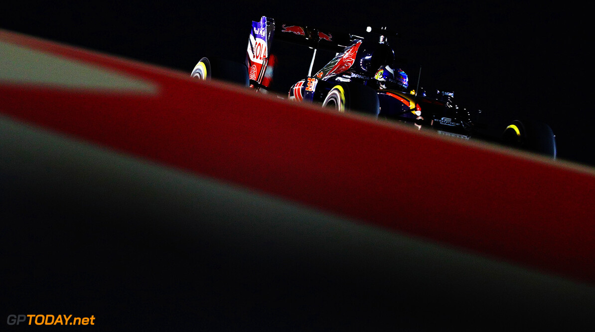 SAKHIR, BAHRAIN - APRIL 01: Max Verstappen of the Netherlands drives the (33) Scuderia Toro Rosso STR11 Ferrari 059/5 turbo on track during practice for the Bahrain Formula One Grand Prix at Bahrain International Circuit on April 1, 2016 in Sakhir, Bahrain.  (Photo by Clive Mason/Getty Images) // Getty Images / Red Bull Content Pool  // P-20160401-00740 // Usage for editorial use only // Please go to www.redbullcontentpool.com for further information. //  F1 Grand Prix of Bahrain - Practice Clive Mason As Sakhir Bahrain  P-20160401-00740