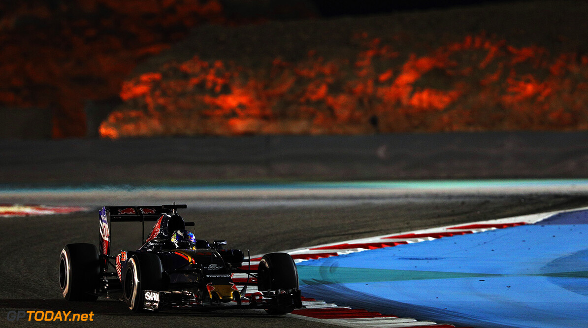 SAKHIR, BAHRAIN - APRIL 03: Max Verstappen of the Netherlands drives the (33) Scuderia Toro Rosso STR11 Ferrari 060/5 turbo on track  during the Bahrain Formula One Grand Prix at Bahrain International Circuit on April 3, 2016 in Sakhir, Bahrain.  (Photo by Mark Thompson/Getty Images) // Getty Images / Red Bull Content Pool  // P-20160403-00235 // Usage for editorial use only // Please go to www.redbullcontentpool.com for further information. //  F1 Grand Prix of Bahrain Mark Thompson As Sakhir Bahrain  P-20160403-00235