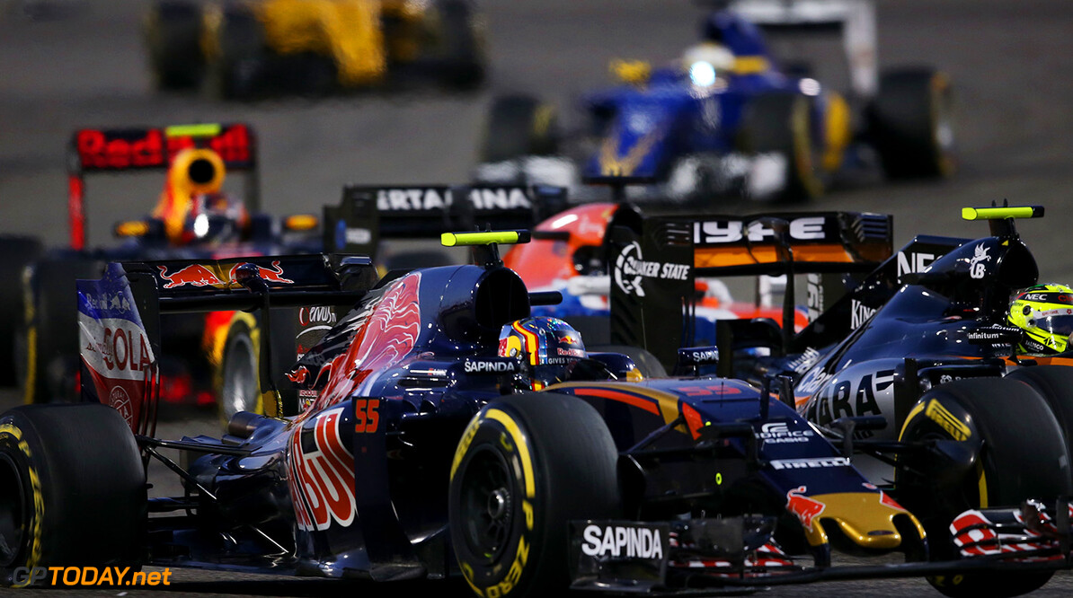 SAKHIR, BAHRAIN - APRIL 03: Carlos Sainz of Spain drives the (55) Scuderia Toro Rosso STR11 Ferrari 060/5 turbo on track during the Bahrain Formula One Grand Prix at Bahrain International Circuit on April 3, 2016 in Sakhir, Bahrain.  (Photo by Lars Baron/Getty Images) // Getty Images / Red Bull Content Pool  // P-20160403-00187 // Usage for editorial use only // Please go to www.redbullcontentpool.com for further information. //  F1 Grand Prix of Bahrain Lars Baron As Sakhir Bahrain  P-20160403-00187