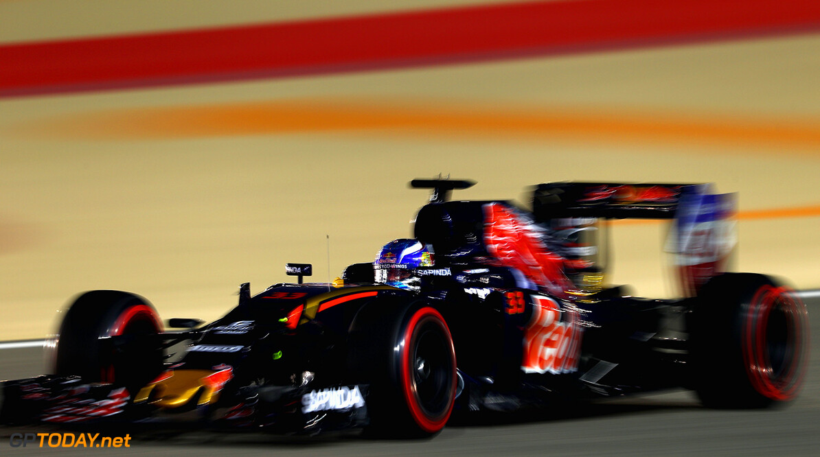 SAKHIR, BAHRAIN - APRIL 03: Max Verstappen of the Netherlands drives the (33) Scuderia Toro Rosso STR11 Ferrari 060/5 turbo on track  during the Bahrain Formula One Grand Prix at Bahrain International Circuit on April 3, 2016 in Sakhir, Bahrain.  (Photo by Clive Mason/Getty Images) // Getty Images / Red Bull Content Pool  // P-20160403-00263 // Usage for editorial use only // Please go to www.redbullcontentpool.com for further information. //  F1 Grand Prix of Bahrain Clive Mason As Sakhir Bahrain  P-20160403-00263
