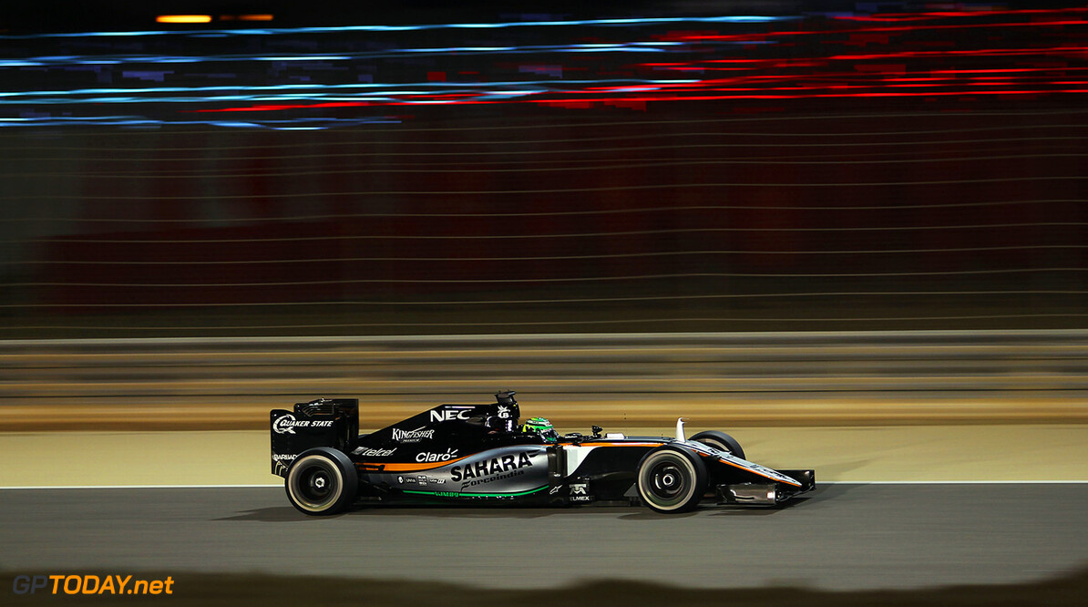 Formula One World Championship Nico Hulkenberg (GER) Sahara Force India F1 VJM09. Bahrain Grand Prix, Sunday 3rd April 2016. Sakhir, Bahrain. Motor Racing - Formula One World Championship - Bahrain Grand Prix - Race Day - Sakhir, Bahrain James Moy Photography Sakhir Bahrain  Formula One Formula 1 F1 GP Grand Prix BIC Bahrain Mamana Sakhir Bahrain International Circuit JM548 Hulkenberg H?lkenberg Huelkenberg Action Track GP1602d