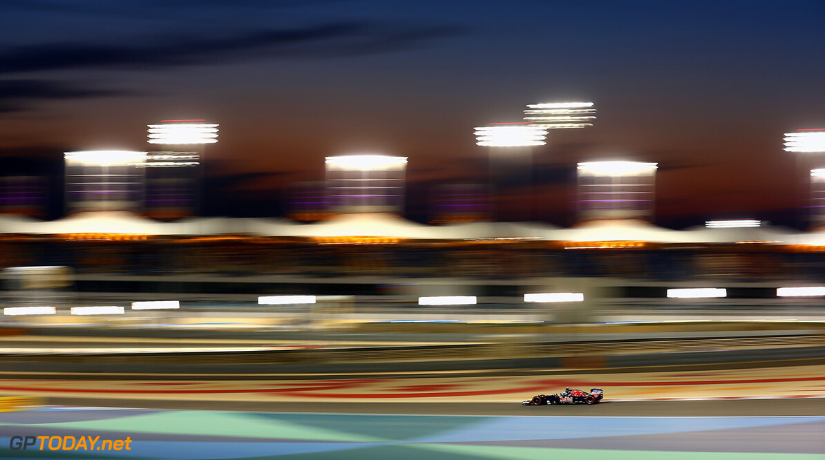 SAKHIR, BAHRAIN - APRIL 03: Max Verstappen of the Netherlands drives the (33) Scuderia Toro Rosso STR11 Ferrari 060/5 turbo on track  during the Bahrain Formula One Grand Prix at Bahrain International Circuit on April 3, 2016 in Sakhir, Bahrain.  (Photo by Clive Mason/Getty Images) // Getty Images / Red Bull Content Pool  // P-20160403-00259 // Usage for editorial use only // Please go to www.redbullcontentpool.com for further information. //  F1 Grand Prix of Bahrain Clive Mason As Sakhir Bahrain  P-20160403-00259