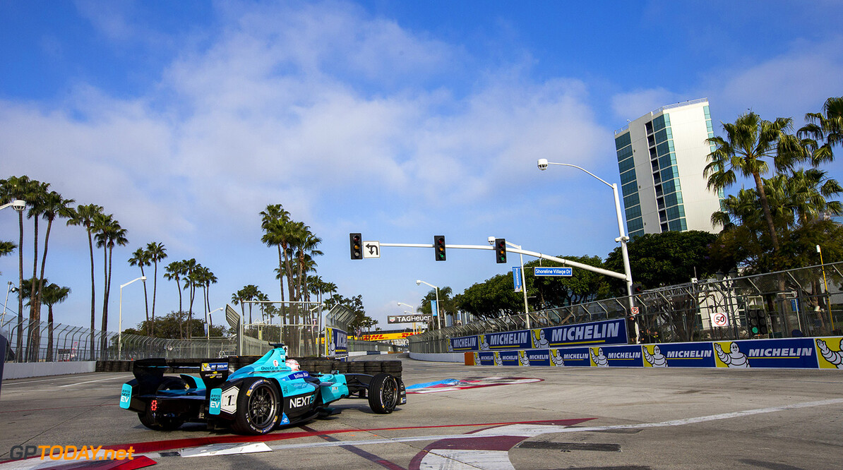 2015/2016 FIA Formula E Championship. Long Beach ePrix, Long Beach, California, United States of America. Saturday 2 April 2016. Nelson Piquet (BRA), NEXTEV TCR FormulaE 001. Photo: Zak Mauger/LAT/Formula E ref: Digital Image _L0U0751  Zak Mauger    fe formula e action