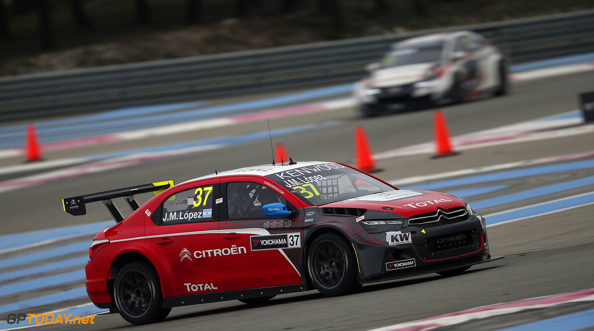37 LOPEZ Jose Maria (arg) Citroen C Elysee team Citroen TOTAL WTCC action during the 2016 FIA WTCC World Touring Car Championship race of Paul Ricard, Le Castellet, France from April 1 to 3 - Photo Jean Michel Le Meur / DPPI AUTO - WTCC PAUL RICARD 2016 Jean Michel Le Meur Le Castellet France  auto championnat du monde circuit course fia avril motorsport tourisme wtcc