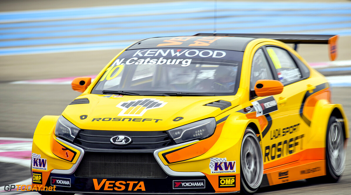 10 CATSBURG Nicky (ned) Lada Vesta team Lada Sport Rosneft action during the 2016 FIA WTCC World Touring Car Championship race of Paul Ricard, Le Castellet, France from April 1 to 3 - Photo Vincent Curutchet / DPPI. AUTO - WTCC PAUL RICARD 2016 Vincent Curutchet Le Castellet France  auto championnat du monde circuit course fia avril motorsport tourisme wtcc