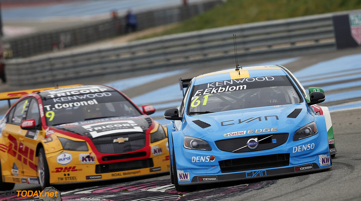 61 EKBLOM Fredrik (swe) Volvo S60 team Polestar Cyan racing action during the 2016 FIA WTCC World Touring Car Championship race of Paul Ricard, Le Castellet, France from April 1 to 3 - Photo Jean Michel Le Meur / DPPI AUTO - WTCC PAUL RICARD 2016 Jean Michel Le Meur Le Castellet France  auto championnat du monde circuit course fia avril motorsport tourisme wtcc