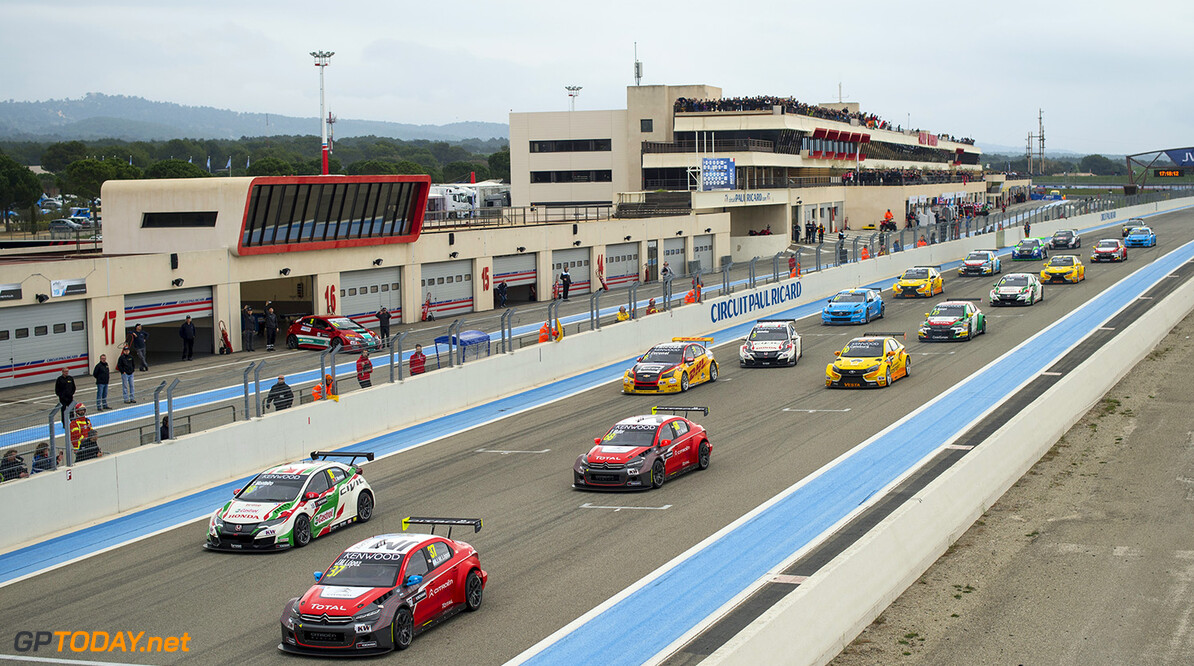 START during the 2016 FIA WTCC World Touring Car Championship race of Paul Ricard, Le Castellet, France from April 1 to 3 - Photo Vincent Curutchet / DPPI. AUTO - WTCC PAUL RICARD 2016 Vincent Curutchet Le Castellet France  auto championnat du monde circuit course fia avril motorsport tourisme wtcc