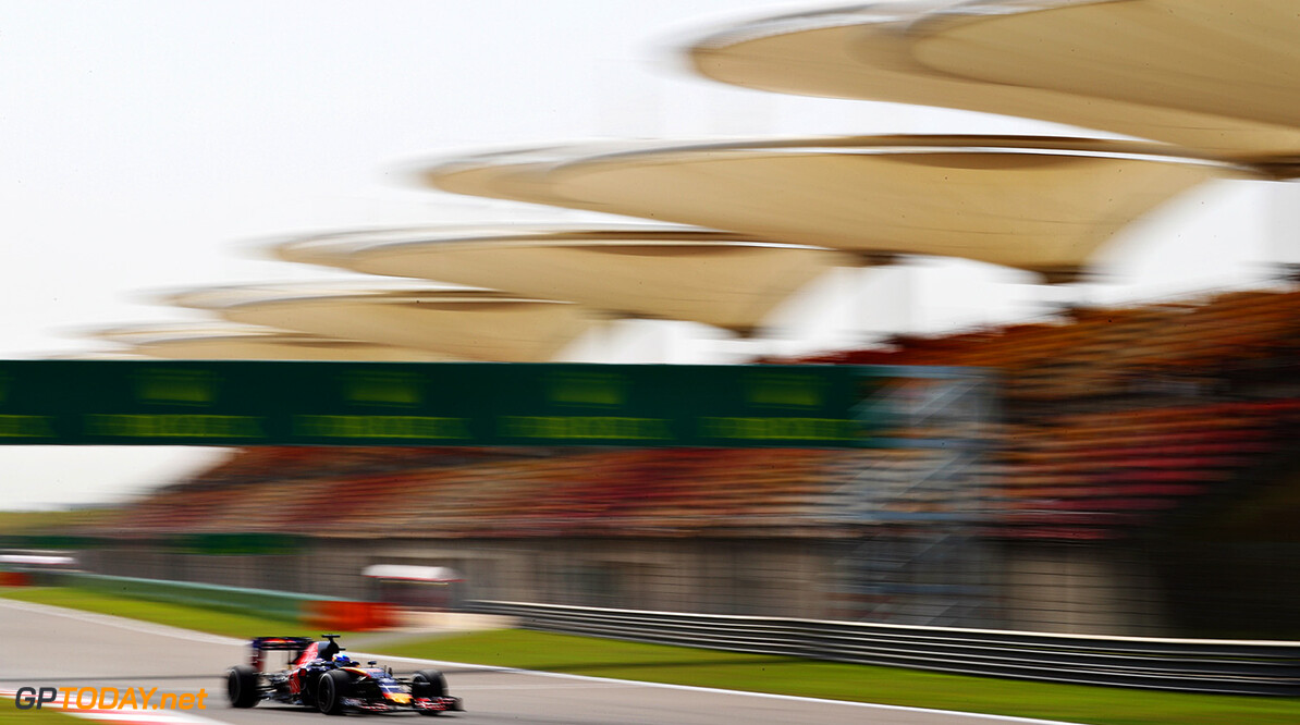 SHANGHAI, CHINA - APRIL 15: Max Verstappen of the Netherlands driving the (33) Scuderia Toro Rosso STR11 Ferrari 060/5 turbo on track during practice for the Formula One Grand Prix of China at Shanghai International Circuit on April 15, 2016 in Shanghai, China.  (Photo by Clive Mason/Getty Images) // Getty Images / Red Bull Content Pool  // P-20160415-00117 // Usage for editorial use only // Please go to www.redbullcontentpool.com for further information. //  F1 Grand Prix of China - Practice Clive Mason Shanghai China  P-20160415-00117