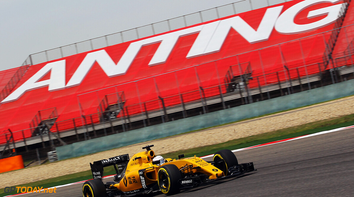 Formula One World Championship Kevin Magnussen (DEN) Renault Sport F1 Team RS16. Chinese Grand Prix, Friday 15th April 2016. Shanghai, China. Motor Racing - Formula One World Championship - Chinese Grand Prix - Practice Day - Shanghai, China Renault Sport Formula One Team Shanghai China  Formula One Formula 1 F1 GP Grand Prix China Chinese Shanghai Shanghai International Circuit JM551 Action Track GP1603b