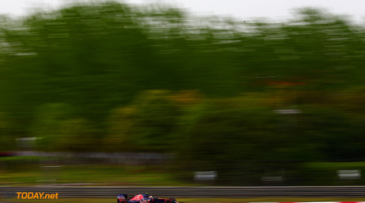 SHANGHAI, CHINA - APRIL 15: Carlos Sainz of Spain driving the (55) Scuderia Toro Rosso STR11 Ferrari 060/5 turbo on track during practice for the Formula One Grand Prix of China at Shanghai International Circuit on April 15, 2016 in Shanghai, China.  (Photo by Dan Istitene/Getty Images) // Getty Images / Red Bull Content Pool  // P-20160415-00317 // Usage for editorial use only // Please go to www.redbullcontentpool.com for further information. //  F1 Grand Prix of China - Practice Dan Istitene Shanghai China  P-20160415-00317