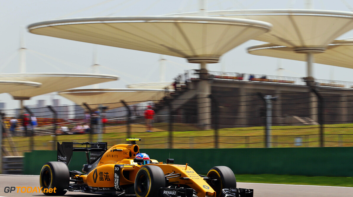 Formula One World Championship Jolyon Palmer (GBR) Renault Sport F1 Team RS16. Chinese Grand Prix, Friday 15th April 2016. Shanghai, China. Motor Racing - Formula One World Championship - Chinese Grand Prix - Practice Day - Shanghai, China Renault Sport Formula One Team Shanghai China  Formula One Formula 1 F1 GP Grand Prix China Chinese Shanghai Shanghai International Circuit JM551 Action Track GP1603b
